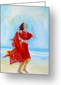Belly Dance Greeting Cards - Joy Greeting Card by Michal Shimoni
