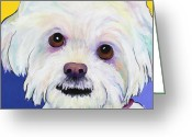 Lapdog Greeting Cards - Joy Greeting Card by Pat Saunders-White            