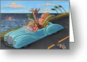 Ecstasy Greeting Cards - Joy Ride Greeting Card by Holly Wood