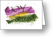 Confidence Greeting Cards - Joy Strength II Greeting Card by Judy Dodds