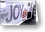 Race Car Photo Greeting Cards - Joy Toy Greeting Card by Scott  Wyatt