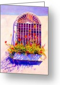 Reproducciones Tropicales Greeting Cards - Joyful Window Greeting Card by Estela Robles