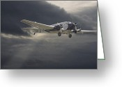 Civil Greeting Cards - Ju52 -- Iron Annie Greeting Card by Pat Speirs