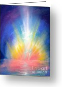 Meeting Pastels Greeting Cards - Jubilation Arising. Greeting Card by Iris Sullivan