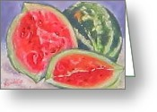 Refreshing Pastels Greeting Cards - Juciy Greeting Card by Denise  Cox
