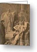 Featured Greeting Cards - Judgment Of Solomon Greeting Card by Photo Researchers, Inc.