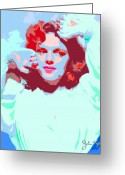 Judy Greeting Cards - Judy Garland Greeting Card by John Keaton