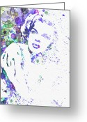 Cult Film Painting Greeting Cards - Judy Garland Greeting Card by Irina  March