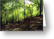 Judy Greeting Cards - Judy Woods Greeting Card by Paul Dene Marlor