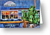 Oatman Greeting Cards - Judys Saloon Greeting Card by Geri Linda Metterle