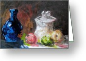 Jugs Greeting Cards - Jug and Jar Greeting Card by Craig Wade