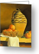 Jugs Greeting Cards - Jug with Oranges Greeting Card by Tom Amiss