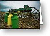 Jugs Greeting Cards - Jugs and Wagon Greeting Card by Dale Stillman