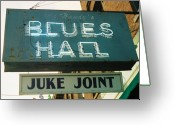 Blues Greeting Cards - Juke Joint Greeting Card by Jame Hayes