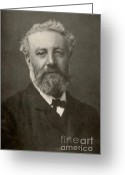 Jules Photo Greeting Cards - Jules Verne, French Author Greeting Card by Photo Researchers