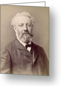 Jules Photo Greeting Cards - Jules Verne, French Novelist Greeting Card by Humanities And Social Sciences Librarynew York Public Library