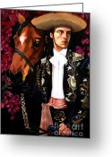 Charro Greeting Cards - Julian Greeting Card by Maryann Luera