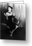 Cigarette Holder Greeting Cards - Julie Harris (1925- ) Greeting Card by Granger