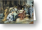 Patrician Greeting Cards - Julius Caesar (100-44 B.c.) Greeting Card by Granger