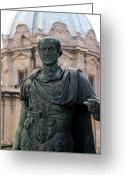 Julius Greeting Cards - Julius Caesar Greeting Card by Andrew Fare