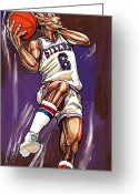 Julius Erving Greeting Cards - Julius Erving Greeting Card by Dave Olsen