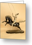 World Sculpture Greeting Cards - Jump For Joy Greeting Card by Ione Citrin