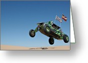 Jumping Greeting Cards - Jumping Hulk Greeting Card by Scott Sawyer
