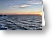 Sunset Posters Greeting Cards - Jumping off place Greeting Card by Jon Burch Photography