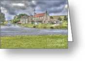 Slates Greeting Cards - Junction At Goathland Greeting Card by Allan Briggs