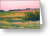 Dusk Pastels Greeting Cards - June Dusk Greeting Card by Karen Berning