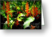 Foilage Greeting Cards - Jungle Fever Greeting Card by Karen Wiles