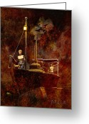 Fire Greeting Cards - Jungle Fire Greeting Card by Bob Orsillo