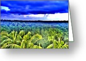 Rain Forrest Greeting Cards - Jungleland Greeting Card by Bill Cannon