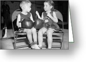 Glove Greeting Cards - Junior Boxer, 1939 Greeting Card by Granger