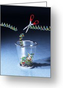 Functional  Greeting Cards - Junk Dna, Conceptual Artwork Greeting Card by Equinox Graphics