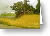 Altered Photograph Greeting Cards - Junk Hill Farm Greeting Card by Charlie Spear