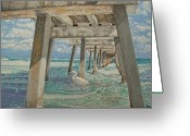 Burt Reynolds Greeting Cards - Juno Pier Florida Greeting Card by Wayne Vander Jagt