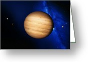 Most Photo Greeting Cards - Jupiter Greeting Card by Detlev Van Ravenswaay