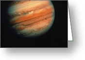Europa Greeting Cards - Jupiter, Europa, & Io Greeting Card by Granger