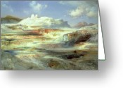 National Painting Greeting Cards - Jupiter Terrace Greeting Card by Thomas Moran