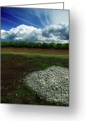Throw Photo Greeting Cards - Just a Stone Throw Away Greeting Card by Peter Piatt
