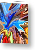 Colorful Greeting Cards - Just Abstract II Greeting Card by Chris Butler