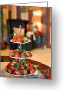 Fruit Basket Greeting Cards - Just Add Cream Greeting Card by Graham Taylor
