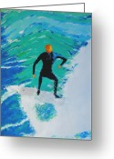 Wind Surfing Art Painting Greeting Cards - Just Another Ride Greeting Card by Ralph Mantia Sr