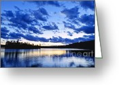Dusk Greeting Cards - Just before nightfall Greeting Card by Elena Elisseeva