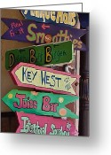 Eateries Greeting Cards - Just Follow the Signs Greeting Card by DigiArt Diaries by Vicky Browning