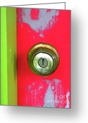 Knobs Greeting Cards - Just Go Inside Greeting Card by Elizabeth Hoskinson