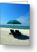 Florida Beaches Greeting Cards - Just the two of us Greeting Card by Susanne Van Hulst