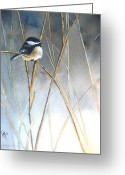Feathers Greeting Cards - Just Thinking Greeting Card by Patricia Pushaw