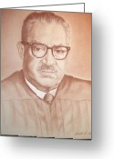 Thurgood Greeting Cards - Justice Marshall Greeting Card by Ashanti A Johnson